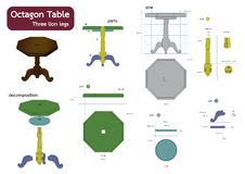 Octagon table Stock Photography