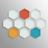 Octagon template layout Royalty Free Stock Photography