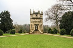 Octagon tower at Fountains Abbey site in the UK. The shot was taken in the winter of 2018 in Yorkshire Royalty Free Stock Photos