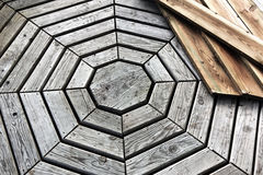 Octagon Wood Floor Royalty Free Stock Image