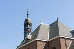 Octagonal belfry on church roof Royalty Free Stock Images
