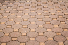 Octagonal brick and square background and texture Royalty Free Stock Photo