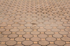 Octagonal brick and square background and texture Stock Image