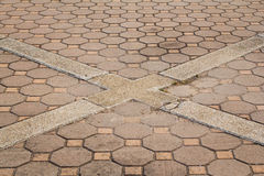 Octagonal brick and square background and texture Royalty Free Stock Image