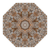 Octagonal brown ornament Royalty Free Stock Photos