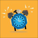 Octagonal clock. It is unique octagonal or square clock royalty free illustration