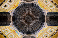 Octagonal dome of Galleria Vittorio Emanuele II in Milan Stock Images