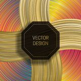 Octagonal frame on dynamic colorful background. Trendy holographic packaging design or cover template.  vector illustration