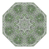 Octagonal green ornament Royalty Free Stock Image