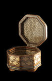 Octagonal khatam casket with the open cover. Stock Photography