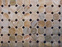 Octagonal mosaic. Background abstract composition of a ceramic with diamonds and octagons stock images