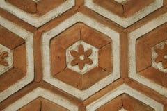 Octagonal Orange Brickwork Royalty Free Stock Image