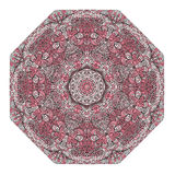 Octagonal rosy ornament Royalty Free Stock Images