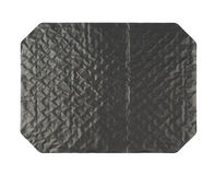 Octagonal sheet of black cardboard Royalty Free Stock Photos