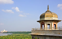 Octagonal tower in Agra fort Stock Photos