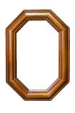Octagonal wooden frame Royalty Free Stock Photos