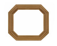 Octagonal wooden Frame for picture Royalty Free Stock Image