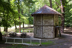 The octagonal wooden pavillion, also known as Dora's Pavillion i Royalty Free Stock Image