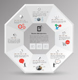 Octagons template with icons. Stock Images