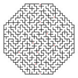 Octahedral maze 30x30 (Black) Stock Photos