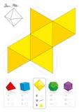 Octahedron modelo de papel Imágenes de archivo libres de regalías