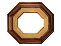 Octangle wooden picture frame Stock Photography