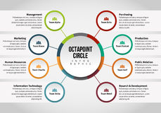 Octapoint Circle Infographic Royalty Free Stock Image