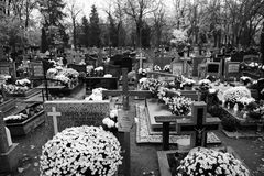 Octava de todos los santos Mirada artística en blanco y negro Foto de archivo