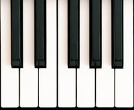 Octave on piano Stock Images