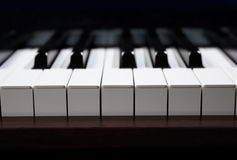 An octave of piano key Stock Image