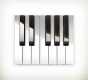 Octave, piano keys Royalty Free Stock Images