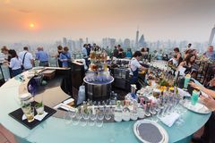 Octave rooftop bar in Bangkok Stock Image