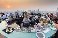 Octave rooftop bar in Bangkok stock image