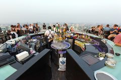 Octave rooftop bar in Bangkok royalty free stock image