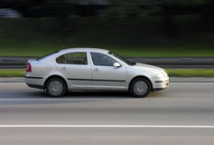 Octavia speed. Skoda Octavia on a highway royalty free stock photos