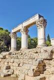 Octavia tempel i forntida corinth Royaltyfri Fotografi