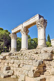 Octavia temple in ancient corinth Royalty Free Stock Photography