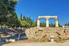 Octavia temple in ancient corinth Royalty Free Stock Photo