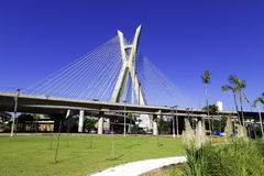 Octavio Frias Bridge à Sao Paulo, Brésil - Amérique latine photo stock