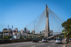 Octavio Frias Bridge or Ponte Estaiada - Sao Paulo, Brazil stock photos