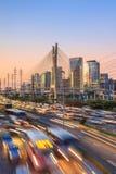 Octavio Frias de Oliveira Bridge no Sao Paulo Brazil Imagem de Stock Royalty Free