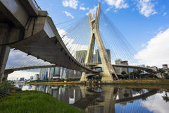 Octavio Frias de Oliveira Bridge in Sao Paulo, Brazil Stock Photos