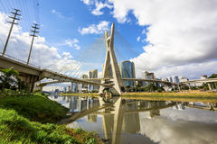 Octavio Frias de Oliveira Bridge in Sao Paulo, Brazil Royalty Free Stock Photo