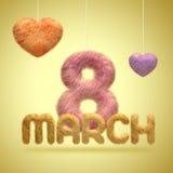 Octavo de marzo El día de fiesta de las mujeres Fotografía de archivo libre de regalías