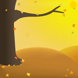 October. Vector illustration: autumnal sunny day Royalty Free Stock Photo