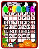 October 2009 Calendar Royalty Free Stock Photos