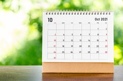 Free October 2021 Calendar Stock Image - 202124521