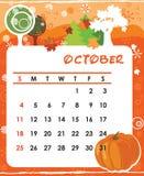 October. Decorative Frame for calendar - October Royalty Free Stock Photos
