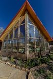 Sohm Home-Hastings Mesa, Colorado. OCTOBER 10, 2017 Aspen View Ranch - Eco Home A-Frame of photographer Joseph Sohm - Hastings Mesa, across from Last Dollar royalty free stock photo
