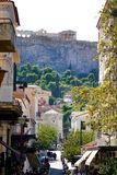 07 OCTOBER 2018, ATHENS, GREECE View of the Parthenon from the old city royalty free stock photo